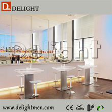 Best sale Outdoor battery power 16 color change glowing led bar table/ light up cocktail table/illuminated led bar table