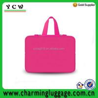 With handle tote waterproof custom neoprene laptop sleeve
