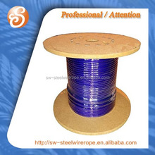 7x7 steel wire with purple nylon coated.4.5mm-6.5mm pvc