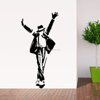 ZooYoo removable living room decorative wall sticker super star Michael Jackson custom wall sticker for living room ( 8489) )