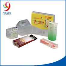 Customized Printing Small Rectangular Rigid Clear Plastic Box