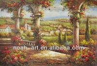 Knife Painting Wall Picture Scenery Oil Painting of Mediterranean