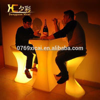 Glowing Plastic LED Cocktail Table Night Club Wine Desk Resturant Decorative Tables