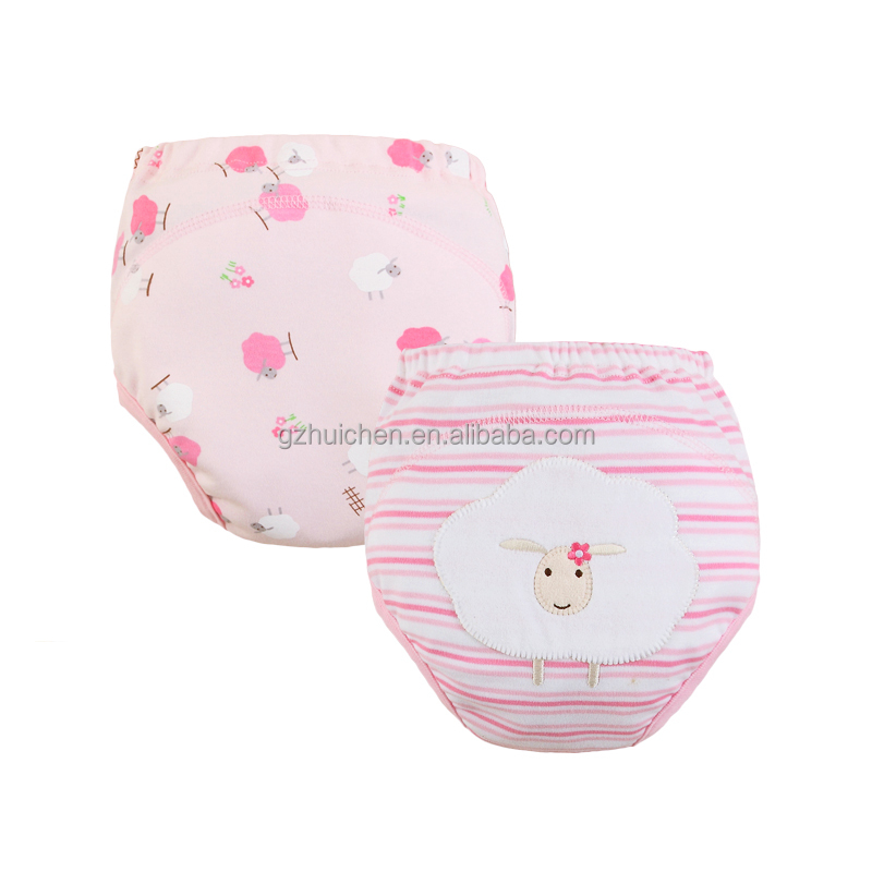 mom and bab 100%cotton embroidery animal training pants ,bulk wholesale diapers