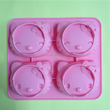 4holes Hello Kitty Silicone Cake Mold, Wolf Shape Silicone Cake Mold With Happy Sheep