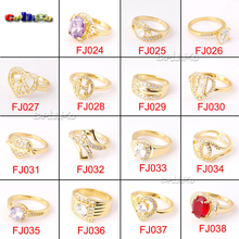 Fashion Women Engagement Jewelry 18K Gold Plating Crystal Zircon Female Wedding Finger Rings