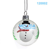 clear snowman christmas item glass ball ornament