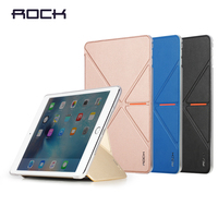 Original ROCK VITA Series Flip Leather Case For iPad mini 4 Solid Fashion PU Flip Case MT-4567