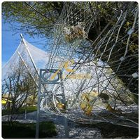 Stainless steel wire netting for zoo enclosure