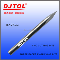 three faces engraving bits cnc cutting bits