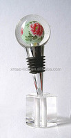 hand painted glass bottle stopper