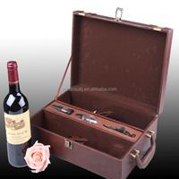 big custom leather wine gift box