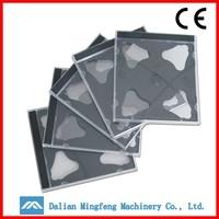 Custom fancy double cd/dvd cases hard black plastic cd case