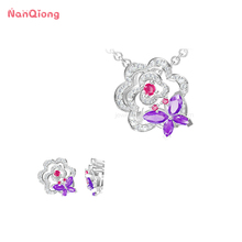 Camellia flower fashionable Sterling silver 925 jewelry pendant