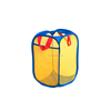 Portable Foldable Mesh Fabric Colored Laundry Baskets