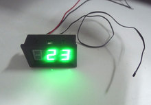 Green DC Digital Thermometer -30~+70 degree