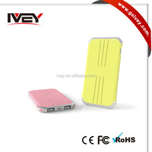 Universal External Portable Colorful 5000mAh Power Bank for SmartphoneTablets