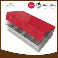 Wholesale iron special design tea packaging box