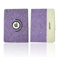 For Apple iPad Air Mini 2/3/4 Rose Hybrid PU Leather 360 Rotating Cover Case 2014 New Hot Wholesale