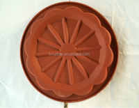cake031 wholesale 25*4cm big flower shape silicone chocolate mold cake mould ice cookie mold cake pan