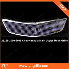 Auto Stainless Steel Grille For 00-05 Year Chevy Car Impala Model WIth Wire Mesh Chrome Color