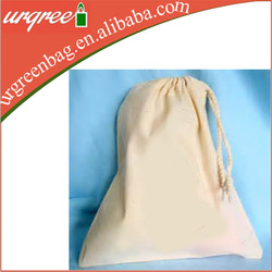 cheap organic drawstring cotton shoe bag