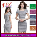 2014 nuevo diseño de albaricoque de manga corta vendaje vestido de fiesta con cuentas, en línea de venta al por mayor vestido