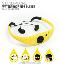 waterproof mp3 player for swimming / sport MP3 / water proof mp3/MP3 for swim