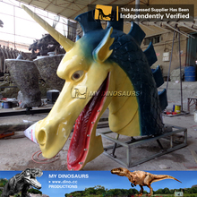 N-C-W-908-smoke and water spray life size chinese culture dragon garden statues