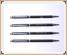 personalized logo metal twist pen,wholesale price meta ball pen for promotion