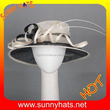 new sinamay hat new style church hat
