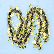 christmas tinsel garland hawaiian garland decorative artificial flower garland