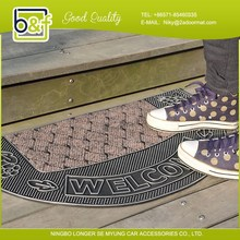 Chinese good quality PVC injection door mat with fashionable pattern for sale