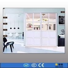 White simple style entry door glass inserts