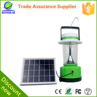 with solar panel, with DC or USB output for mobile phone solar led home light