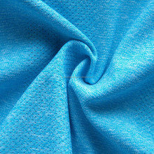 breathable cationic polyester spandex single jersey fabric