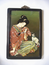Can be customized the pictures of Japanese ladies painting .