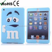 m&m's chocolate bean rubber cover for ipad mini case protect