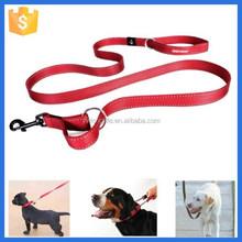 Customized nylon webbing dog leash, dog collar and leash