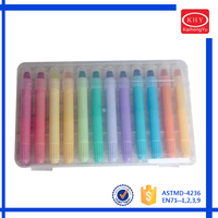 Promotioanl 12olors Set Package of Plastic box Gel Crayons