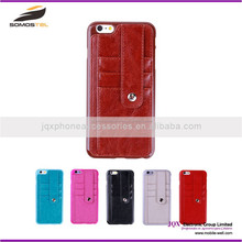 [Somostel] selling design cell phone wallet stand cases manufacturer with card slot for iphone 6 leather case