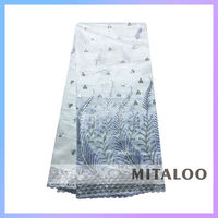 Mitaloo MGP0044 Nice Dress Wedding Party Dress White Color George Lace For African Women