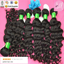 100% unprocessed Romance Curl Remy Virgin Natural Color Hair Extensions