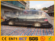 Exposição tenda bolha/tampa do carro inflável, inflável granizo prova tampas do carro, inflável carro de proteção