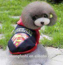 Animal doméstico del gato del perro Superman jersey sudadera con capucha capa del invierno venta al por mayor del animal