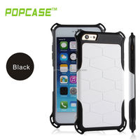 BLACK TUFF FLEX COVER TPU RUBBER MOBILE PHONE CASE for IPHONE 6 PLUS COVER