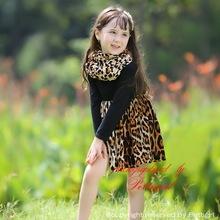 del bebé leopardo extravagancia Modal algodón mantón círculo de estilo occidental ropa cómoda niños de prendas de vestir