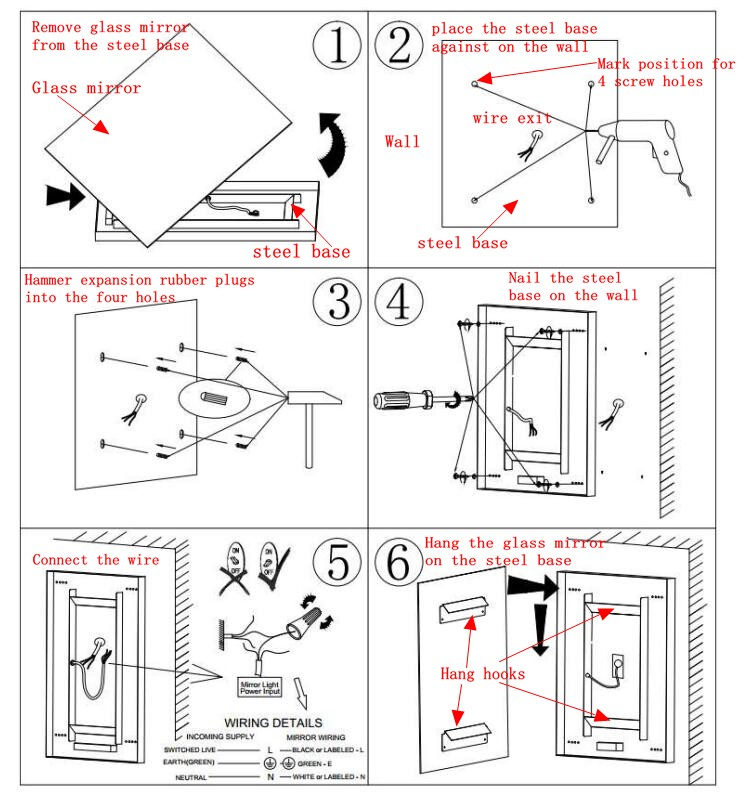 Wiring led bathroom mirror wire center bathroom mirror wiring diagram wiring diagram portal u2022 rh getcircuitdiagram today frameless led mirror light combination led illuminated mirror swarovskicordoba Gallery