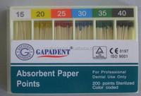 GAPADENT Absorbent Paper Point/dental gutta percha
