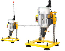 2015 Best small manual hand held drilling machine for drilling glass hole